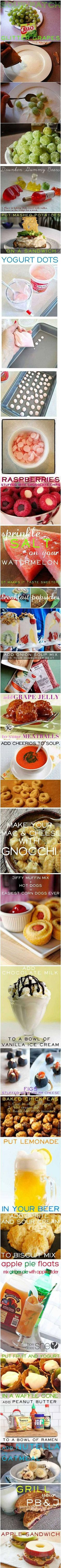 A collection of 23 cool (yet simple) food hacks you might not have known about.