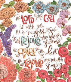 images of bible verses of zephaniah 3:17 | Scripture Wall Art. Bible Verse Art. Christian Art. Zephaniah 3:17