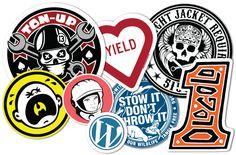 Silkscreen Sticker Examples