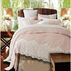 Share this page with others and get 10% off! Paris Pink Lace Egyptian Cotton Duvet Cover Set