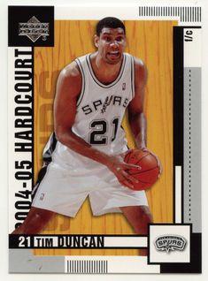 Tim Duncan # 77 - 2004-05 Upper Deck Hardcourt Basketball