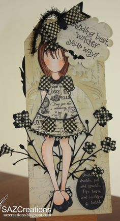 Creations by SAZ: Doll Stamp Tag - Sending Best Witches Your Way