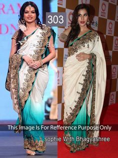 Indian Ethnic Bollywood Replica Designer Exclusive Party Wear Saree Sophie 303 #Unbranded #saree