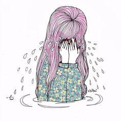 *⋆wιтн yoυr love noвody can drag мe down⋆* Art Sketchbook, Cute Art, Art Inspo, Art Quotes, Pop Art, Art Drawings, Art Photography, Anime Art, Images