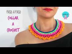 Collar sencillo a crochet - YouTube