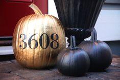 adorable. I love painted pumpkins.