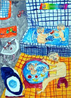 Art - Watercolour and Drawing - Figures Vegan Coleslaw vegan kale coleslaw Projects For Kids, Art Projects, Crafts For Kids, Painting For Kids, Art For Kids, Sweets Art, Kids Part, Ecole Art, Art Plastique