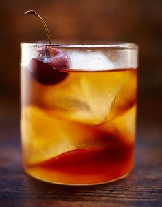 Give the Old fashioned a little twist with some dark rum. It goes perfectly with the zesty orange to make a deeply-flavoured short cocktail.