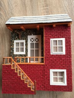Disney Stained Glass, Cardboard Model, Iphone 6 Plus Wallpaper, Cottage Crafts, Arts And Crafts, Paper Crafts, Minecraft Crafts, Miniature Houses, Diy Dollhouse