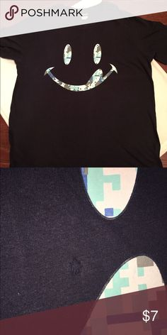 Smiley Face T-Shirt Smiley Face T-Shirt  Size XL  **Has a small hole. Please see 2nd picture.** Tops Tees - Short Sleeve
