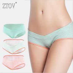 3 Pcs Comfy Cotton Low Waist Maternity Panties U-shaped Seamless Underwear  For Pregnant Women 9b47f94c3