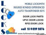 INSURED BONDED EXPERIENCED  AUTO TRANSPONDER KEYS  Door lock parts  UPVC door locks  RFID door lock  214-229 2076.  www.fulltimelocksmith.com