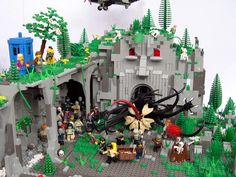 These Cthulhu LEGO sets will drive you insane with little plastic bricks.  Notice on the top left level is the TARDIS with what looks like Doctor 10 and an unidentified blond companion.