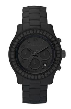 Fancy - Michael Kors Blackout Silicone Watch Michael Kors Black, Michael Kors Watch, Craft Jewelry, I Love Jewelry, Mens Watches For Sale, St Michael Pendant, John Lewis, Tiffany And Co, Black Wallpaper