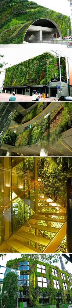 Is there a lovelier way to cover an overpass/parking structure? Just loving these vertical gardens.