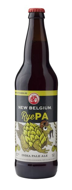 New Belgium Hop Kitchen #5 - RyePA (IPA) pours a clear dark amber with a medium size off-white head, and very good lacing. smell is of hops, rye, some tropical fruits, and malt. taste is smooth and creamy, subtle hops, malt, and rye. ends creamy and bitter.