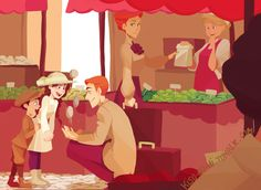 """Bioshock Infinite fanart. """"Monsieur Lutece sure is good with children, isn't he?"""" Aww...even though Robert Lutece seems so stoic, Rosalind's audio diaries suggest that he is actually a big softie at heart. It's sad that he wants kids but that would mean becoming mortal again. So the debate between having immortality or living and having a family is a tough one. Rosalind says she faces the exact same debate. But I don't think that Robert would ever leave Rosalind behind either...he loves her…"""