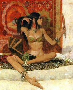 Robert McGinnis (b. Detail of The Mirrors Robert McGinnis is an American artist and illustrator. He is known for his illustrations of over 1200 paperback book covers, magazines and newspapers,. Robert Mcginnis, Earl Moran, Pin Up, Painting For Kids, Figure Painting, Drip Painting, Woman Painting, Rock Painting, Art Magique