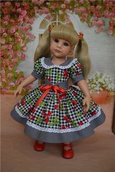 ideas for crochet kids girls mom Baby Girl Party Dresses, Dresses Kids Girl, Baby Dress, Kids Outfits, American Girl Dress, American Doll Clothes, Ag Doll Clothes, American Girls, Doll Dress Patterns