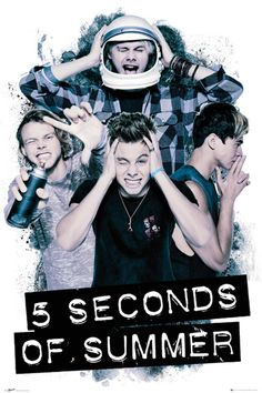 5 Seconds of Summer - Headache - Official Poster. Official Merchandise. Size: 61cm x 91.5cm. FREE SHIPPING