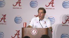 Nick Saban post-game press conference following Alabama's 34-0 victory over Louisiana Monroe