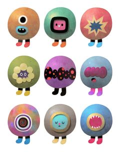 Character Design by Dric, via Behance