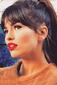 Seriously considering bangs again. Whether your hair is short, medium, or long -. Seriously considering bangs again. Whether your hair is short, medium, or long - here are the best hairstyles to pair with bangs. Medium Hair Styles, Curly Hair Styles, Curly Bangs, Bangs Medium Hair, Curly Pixie, Medium Haircuts With Bangs, Haircut Medium, Curly Haircuts, Medium Curly