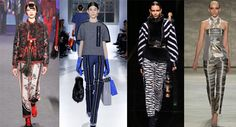 Fashion Trousers Autumn-Winter 2014-2015: Trousers with a Fashionable Print
