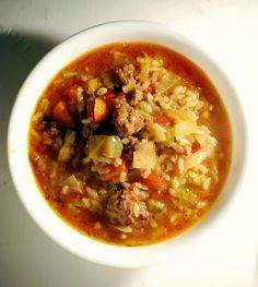 Cabbage roll soup.  I will make with ground turkey or chicken.