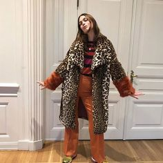 @palmaria making a pretty good case for our super-soft faux fur leopard print coat (fully lined FYI) by @baumundpferdgarten ♥️