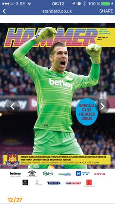 Into West Ham United? Browse our library of Official and fully licensed West Ham United Programmes and Publications West Ham United Fc, Barclay Premier League, Kicks, Football, Sport, Soccer, Futbol, Deporte, Sports
