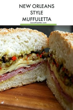 This delicious New Orleans style Muffuletta will be a family favorite no matter where you re from Homemade Muffulettas Authentic New Orleans Muffuletta Recipe Muffaletta Sandwich Muffuletta Sandwich Louisiana Recipes, Cajun Recipes, Cooking Recipes, Healthy Recipes, Healthy Food, Tofu Recipes, Southern Recipes, Italian Recipes, Picnic