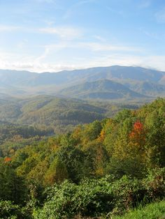 Beauty as far as the eye can see in the Great Smoky Mountains. such a wonderful place to be! Smoky Mountains Tennessee, Great Smoky Mountains, Smokey Mountain, Mountain View, Dream Vacation Spots, Dream Vacations, Wonderful Places, Beautiful Places, Tennessee Smokies