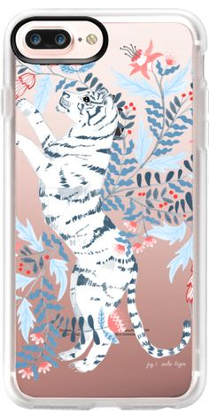 Casetify Protective iPhone 7 Plus Case and iPhone 7 Cases. Other Animal iPhone Covers - Floral Tiger by Papio Press | Casetify