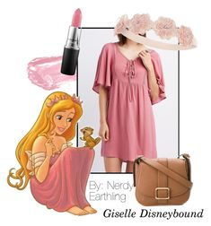 Giselle Disneybound by nerdyearthling on Polyvore featuring polyvore, fashion, style, Charlotte Russe, MICHAEL Michael Kors, Monsoon, By Terry, MAC Cosmetics, Disney and clothing