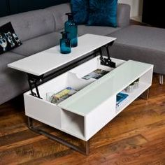 roomscape coffee table for a modern home Multifunctional Furniture, Smart Furniture, Modern Furniture, Home Furniture, Furniture Design, Wooden Crate Coffee Table, Coffee Table To Dining Table, Coffee Table Design, Centre Table Living Room