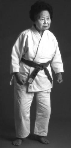 "Keiko Fukuda was the most decorated female judoka in the history of judo. She was the first woman to earn the 9th dan - when she was 93. Only 4'10"" and less than 100 pounds she ran her own judo studio for nearly forty years. She passed away at 99 years old on February 9, 2013. http://www.obitoftheday.com/post/43075814851/keikofukuda"