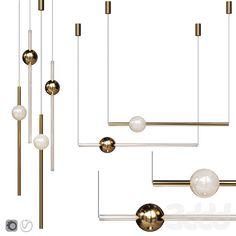 3d модели: Люстры - Подвесной светильник Lee Broom ORION GLOBE LIGHT POLISHED GOLD Lee Broom, Globe Lights, Chandelier, Ceiling Lights, Lighting, Tube, Gold, Home Decor, Candelabra