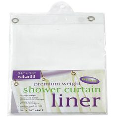Carnation Home Fashions Stall Size Extra Heavy Vinyl Shower Curtain Liner - SC-STHG/21