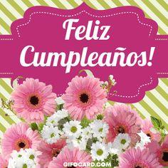 Kliknij tutaj - Click card to view animation. Happy Birthday Greetings Friends, Happy Birthday Quotes, Birthday Gifs, Spanish Birthday Cards, Animation, Ecards, Birthdays, Photos, German
