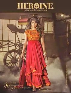 OFM-Priyanka-5032 Exquisite Party Wear Heavy Semi-Stitched Double Flaired Red Georgette Anarkali with Heavy Thread & Jari Work. Comes along with Santoon bottom and Chiffon Dupatta.
