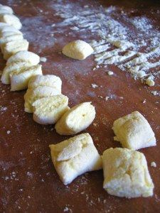 Done!  Ricotta gnocchi - easy to make but I used more ricotta cheese than the recipe called for so I had issues figuring out the right amount of flour.  Still worked out well and tasted great.