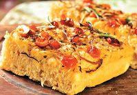 Cantinho Vegetariano: Focaccia com Tomate-Cereja, Cebola e Ervas (vegana...