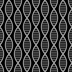DNA Strands (Black and White) fabric by robyriker on Spoonflower - custom fabric