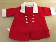 Schoene-alte-Puppenkleidung-Puppenkleider-suesser-Mantel-50er-60er-Jahre