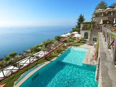 Gorgeous Luxury Hotel Swimming Pools - Palazzo Avino in Ravello #travel #luxurytravel #luxuryhotel