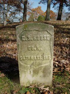 Grave of Pvt. Elias S. Rouse, Co. K - 54th Massachusetts Volunteer Infantry