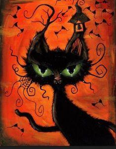 Retro Halloween, Spooky Halloween, Halloween Painting, Halloween Images, Holidays Halloween, Happy Halloween, Halloween Decorations, Halloween 2020, Halloween Pictures To Print