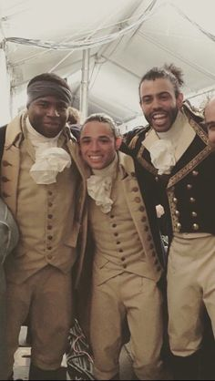 Mulligan, Lafayette and little tiny Laurens>> Oak, Daveed, and Anthony!