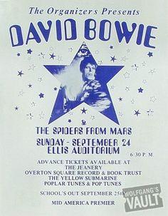 David Bowie concert poster.